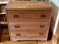 Commode en bois antique vintage retro shabby chic wood dresser