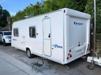 2009 Bailey Ranger 550 6 berth caravan Awning VGC Light to tow !