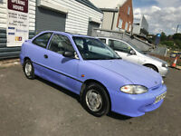 1995 Hyundai Accent 1.3 Si LOW 52,000 MILES + MOT SEP 2017 + DRIVE WELL