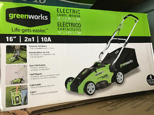 Greenworks 10A electric lawnmower