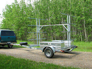 8 Place Canoe 16 Kayak Trailer with OPTIONAL Storage Boxes Edmonton Edmonton Area image 2