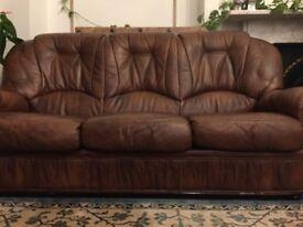 2 leather sofa, good condition