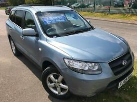 HYUNDAI SANTA FE 2.2CRTD GSI 7SEATER DIESEL £35 WEEK BLUETOOTH FSH MP3 MPV 2009