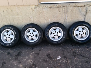 Micheln mud and snow rims / tires for Jeep yj Strathcona County Edmonton Area image 4