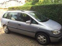 Vauxhall Zafira 2002, low mileage, full service history