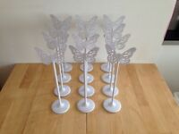 12 Butterfly Wedding Table Name Holders.