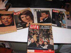 John F. Kennedy  Life Magazines , Scrapbook Newspaper Clippings