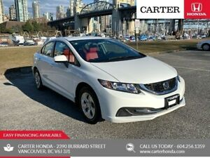 2014 Honda Civic LX + RED LEATHER + LOCAL + NO ACCIDENT!