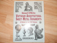 25.00 Victorian Architectural Sheet Metal Ornaments