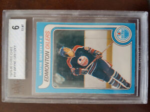Wayne Gretzky rookie card and card sheet