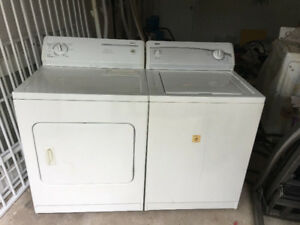 kenmore white top load washer electric dryer set 300 both