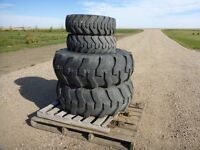 set of R4 16.9-24 and 10-16.5 NHS tires