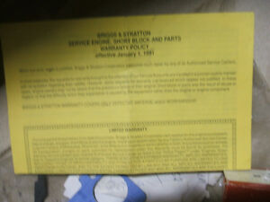 NEW BRIGGS AND STRATTON 12 H.P.LAWN MOWER ENGINE Peterborough Peterborough Area image 10