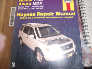 Haynes repair manual for Honda Pilot