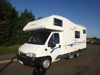 6 berth motorhome for hire.