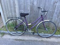 Raleigh Caprice Ladies Town Bike, Serviced, Free Lock/Lights/Delivery