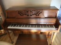 WURLITER upright piano with bench (1/2 the original cost)