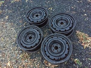 "4 steel wheels - 5 x 114.3mm (5 on 4.5"")"