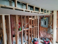 Basement Framing / DryWall / Tape + Mud