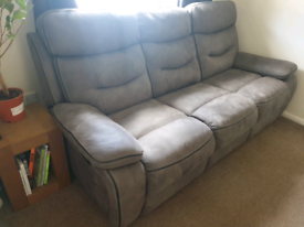 Like new DFS 3 seater recliner sofa