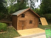 8x10 Hideaway with decking (brand new)