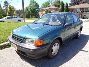 1997 Toyota Tercel 151.000 km, 4 doors