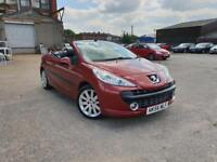PEUGEOT 207 CC 1.6 THP 150 Coupe GT CONVERTIBLE PETROL,HPI CLEAR,FULL S/HISTORY