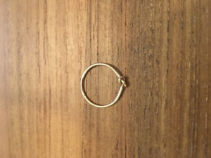 14k Solid Gold Knot Promise Ring