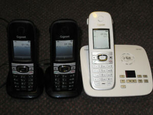 SIEMENS Gigaset C610A Cordless Phone Set - works great - $65.
