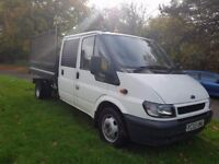 2003 ford tranist tipper crewcab low milage