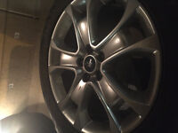 Factory Rims and Continental All Season Tires (4)
