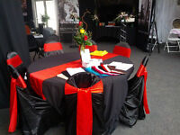 For Rent $2ea Universal Satin Chair Covers Wedding