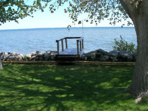 Waterfront Park Trailer For Sale, Lake Erie, protected bay.