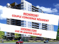 COUPLE CONCIERGE RÉSIDENT /  LIVE-IN JANITOR COUPLE