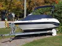 21 FT BOW RIDER WITH 4.3 MERCRUISER AND VENTURE TRAILER