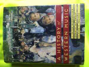 History of Western Music textbook (perfect condition)