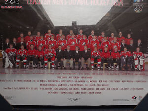 "FS: 1998 Canadian Men's Olympic Hockey Team 16""x20"" Sheet Framed London Ontario image 2"
