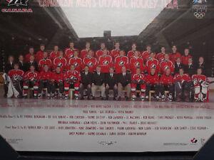 "FS: 1998 Canadian Men's Olympic Hockey Team 16""x20"" Sheet Framed London Ontario image 2"