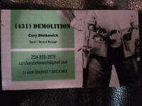 Affordable denolition repairs and general labour