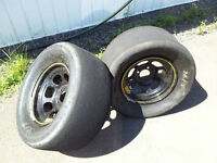 FS: Mickey Thompson Drag Slicks on 13x8 Aero
