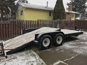 18' Flat deck equipment trailer Prince George British Columbia image 3