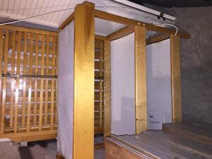 Crib, mattress, change table, dresser
