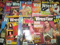 WRESTLING MAGAZINES X 11 THE WRESTLER MAGAZINE FROM 1995