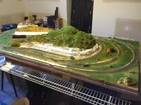 HO Train set Layout - 50% complete with wiring
