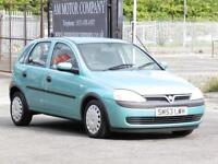 Vauxhall Corsa 1.2i 16v 2003, 5 Door Hatchaback, 1 Years Mot, Warranty