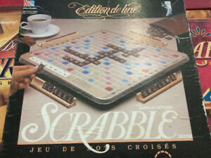 Deluxe Scrabble Crossword Game Milton Bradley