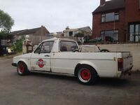 Vw mk1 caddy pickup swap t4 original paint and patina slammed banded steels diesel moted