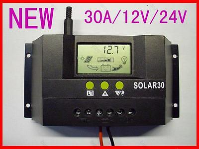 30A Solar Panel Charge Controller Regulator SOLAR30 30A 12V 24V AUTO 360W/720W on Rummage