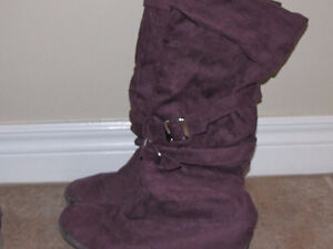 Purple Dress Boots