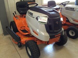 "Columbia lawntractor 46"" cut, 0% financing and 3 years warranty!"